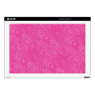 Beautiful modern floral two color pattern decal for laptop