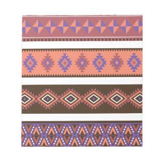 Beautiful modern knitting pattern in matte colors. note pad