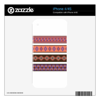 Beautiful modern knitting pattern in matte colors. skin for iPhone 4S