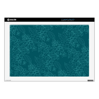 Beautiful modern line floral pattern laptop skin