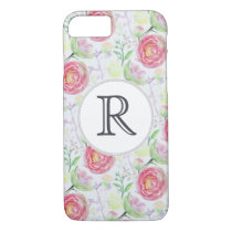 Beautiful Modern Watercolor Floral Pattern iPhone 8/7 Case