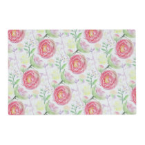 Beautiful Modern Watercolor Floral Pattern Placemat