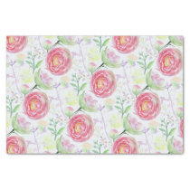 Beautiful Modern Watercolor Floral Pattern Tissue Paper