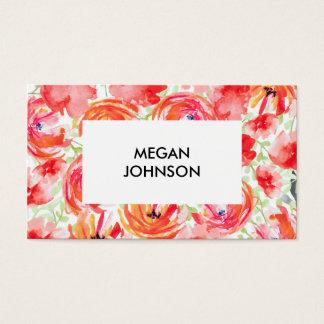 Beautiful Modern Watercolor Flower Design Business Card