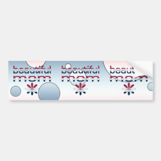 Beautiful Mom America Flag Colors Pop Art Bumper Stickers