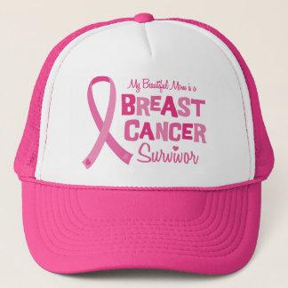 Beautiful Mom Breast Cancer Survivor Caps