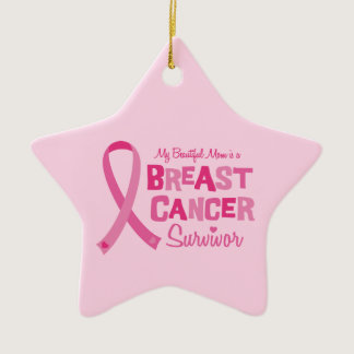 Beautiful Mom Breast Cancer Survivor Ornaments