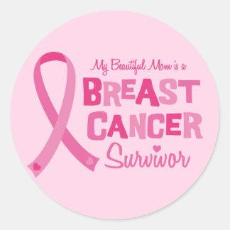 Beautiful Mom Breast Cancer Survivor Stickers