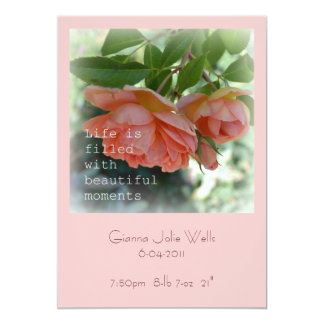 Beautiful Moments Birth Announcement Girl