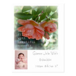 Beautiful Moments Birth Announcement Post Card