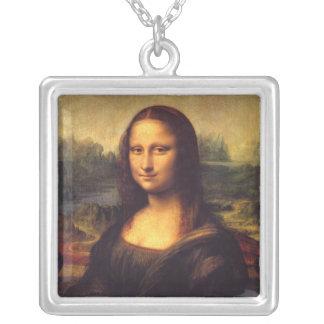 Beautiful Mona Lisa Square Pendant Necklace