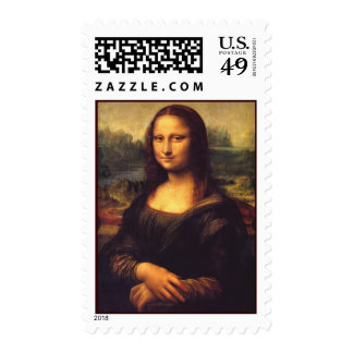 Beautiful Mona Lisa Postage Stamps