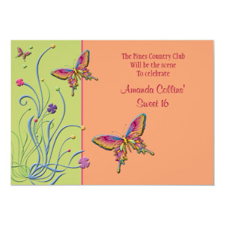 "Beautiful Monarch Party Invitation 5"" X 7"" Invitation Card"