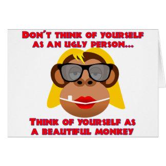 Beautiful Monkey Girl Card