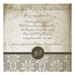Beautiful Monogram Antique Paper Crochet Lace Invitations