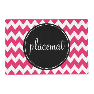 Beautiful Monogram Customized Chevron Placemat