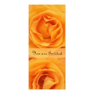 Beautiful Monogram Yellow Orange Hybrid Tea Roses Card
