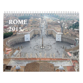 Beautiful Monuments Architecture Rome Italy 2015 Calendar