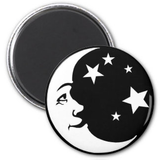 BEAUTIFUL_moon_and_stars1 2 Inch Round Magnet