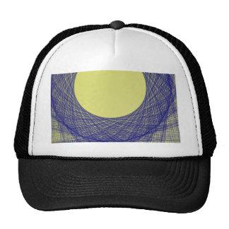 beautiful moon light shine blue color trucker hat