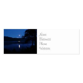Beautiful Moon Rise Reflecting off Lake Water Mini Business Card