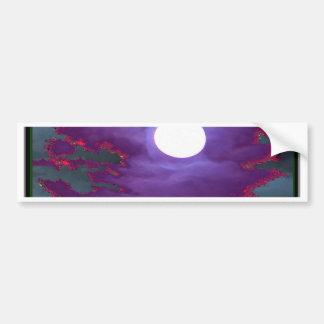 Beautiful   Moonlight  Sky Car Bumper Sticker