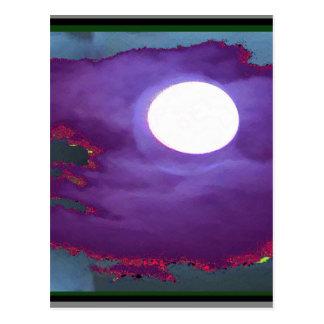 Beautiful   Moonlight  Sky Postcard