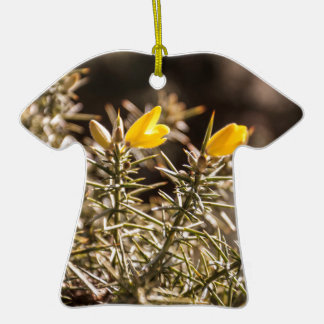 beautiful moorland gorse flower Double-Sided T-Shirt ceramic christmas ornament