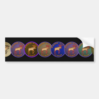 Beautiful Moose Medallion Park City Souvenir Bumper Sticker