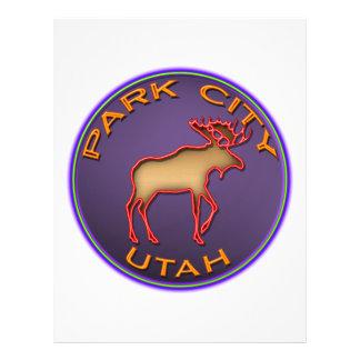 Beautiful Moose Medallion Park City Souvenir Custom Flyer