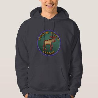 Beautiful Moose Medallion Park City Souvenir Hoodie
