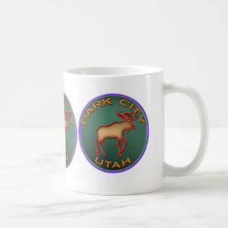 Beautiful Moose Medallion Park City Souvenir Mug