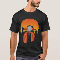 Beautiful moped with a city view T-Shirt