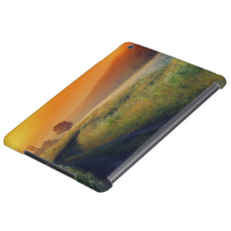 Beautiful morning landscape with the river iPad air cover