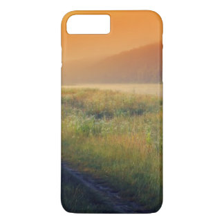 Beautiful morning landscape with the river iPhone 7 plus case