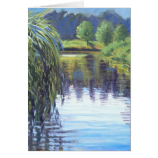 Beautiful Morning Oil Landscape Painting Card