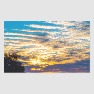 beautiful morning sunrise over farm land agricultu rectangular sticker