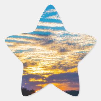 beautiful morning sunrise over farm land agricultu star sticker