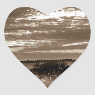 beautiful morning sunrise over farm land florida t heart sticker