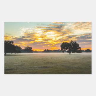 beautiful morning sunrise over farm land florida t rectangular sticker
