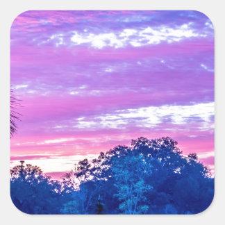 beautiful morning sunrise over farm land florida t square sticker