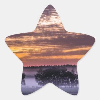 beautiful morning sunrise over farm land florida t star sticker