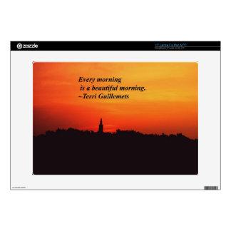 "Beautiful Mornings 15"" Laptop Skin"