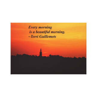 Beautiful Mornings Canvas Print