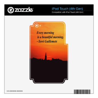 Beautiful Mornings iPod Touch 4G Skins