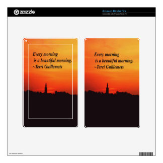 Beautiful Mornings Kindle Fire Decals