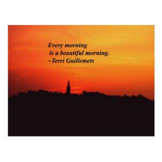 Beautiful Mornings Postcard