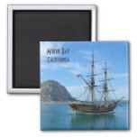 Beautiful Morro Bay Magnet! 2 Inch Square Magnet