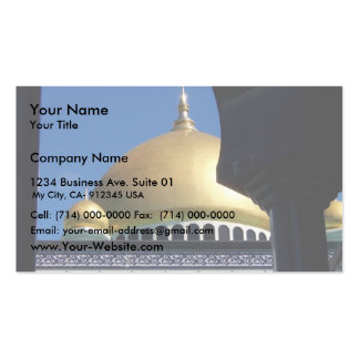 Beautiful Mosque With Gold Plated Dome Business Card