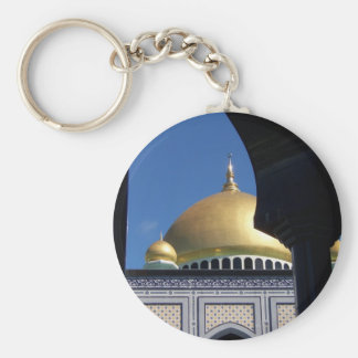 Beautiful Mosque With Gold Plated Dome Key Chain